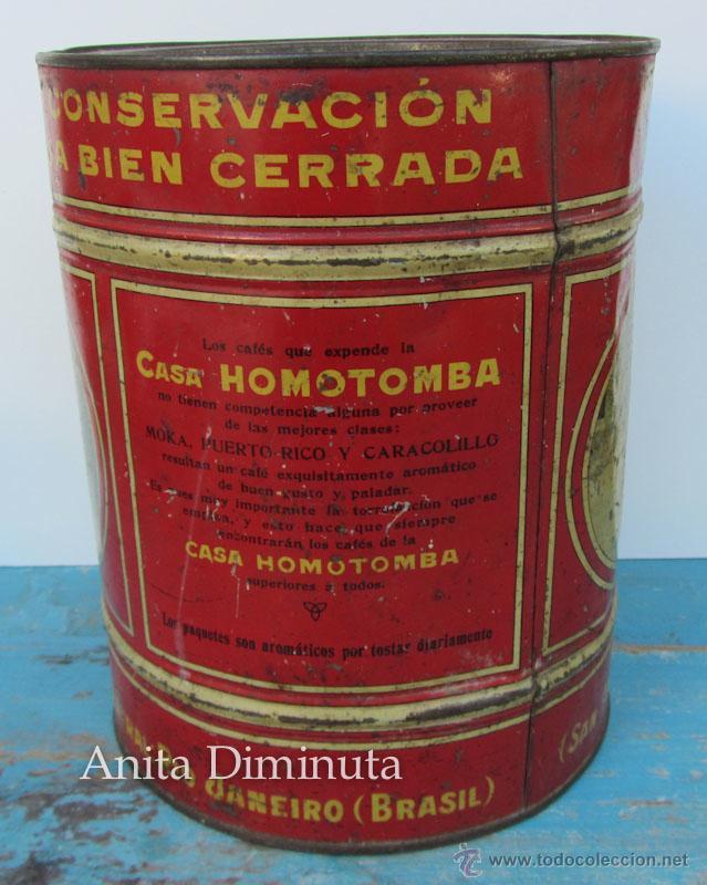 Cajas y cajitas metálicas: ANTIGUA Y RARISIMA CAJA DE CAFES - JUAN FARRE - SAN ANDRES BARCELONA - CASA HOMOTOMBA - TORREFACCION - Foto 2 - 40183657