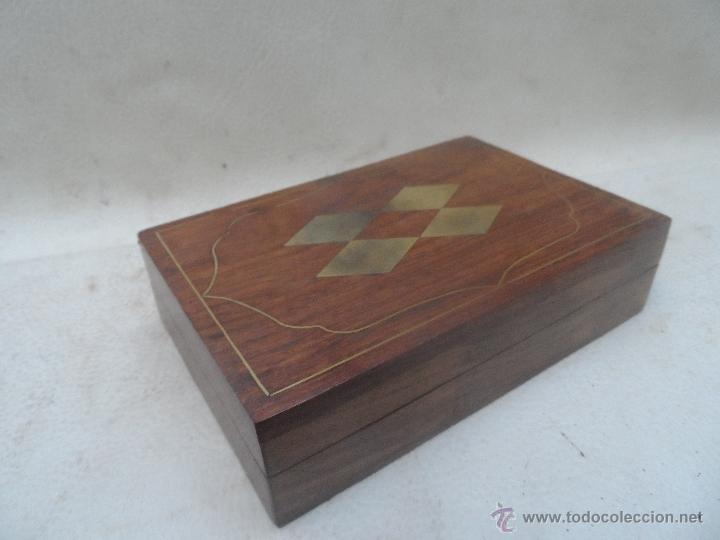 Cajita caja madera para juego de cartas muy bon comprar - Madera para marqueteria ...