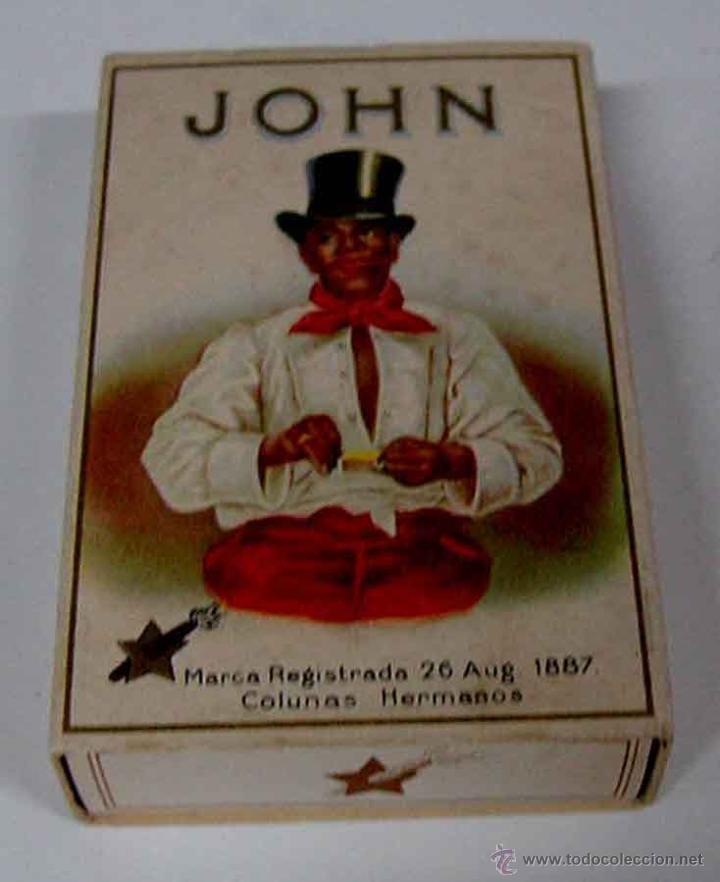 ANTIGUA CAJA DE CARTON DE CIGARRILLOS JOHN . MIDE 8,5 X 5,5 X 2 CMS. PRINCIPIOS DE SIGLO (Coleccionismo - Cajas y Cajitas Metálicas)