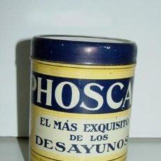 Cajas y cajitas metálicas: ANTIGUA CAJA HOJALATA LITOGRAFIADA DE PHOSCAO - MIDE 10 X 7,5 CMS.. Lote 38258447