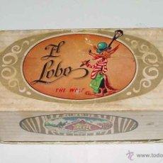 Cajas y cajitas metálicas: ANTIGUA CAJITA DE CARTON CON PUBLICIDAD DE TURRONES EL LOBO - HIJO DE MANUEL SOLER . JIJONA (ALICANT. Lote 38262230