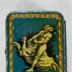 Cajas y cajitas metálicas: ANTIGUA CAJA DE HOJALATA LITOGRAFIADA CON PUBLICIDAD DE BIOPHORINE - FARMACIA - MIDE 5,5 X 4 X 2,5 C. Lote 38267223