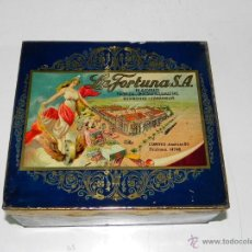 Cajas y cajitas metálicas: ANTIGUA Y EXCEPCIONAL CAJA DE HOJALATA LITOGRAFIADA CON PUBLICIDAD DE LA FABRICA DE CHOCOLATES, GALL. Lote 38280746