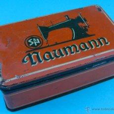 Cajas y cajitas metálicas: NAUMANN. MAQUINAS DE COSER. CAJA METALICA. Lote 40266378