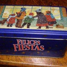 Cajas y cajitas metálicas: BONITA CAJA CAFÉS LA ESTRELLA - FELIZ NAVIDAD -. Lote 40347541