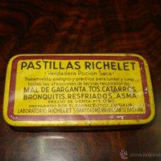 Cajas y cajitas metálicas: CAJITA DE PASTILLAS RICHELET AÑOS 20. Lote 40453436