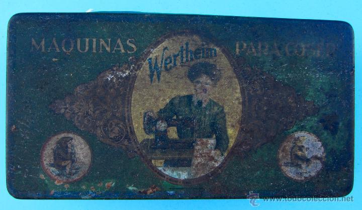 WERTHEIM. MÁQUINAS PARA COSER. CAJA METÁLICA (Coleccionismo - Cajas y Cajitas Metálicas)