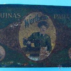 Cajas y cajitas metálicas: WERTHEIM. MAQUINAS PARA COSER. CAJA METALICA. Lote 40484762
