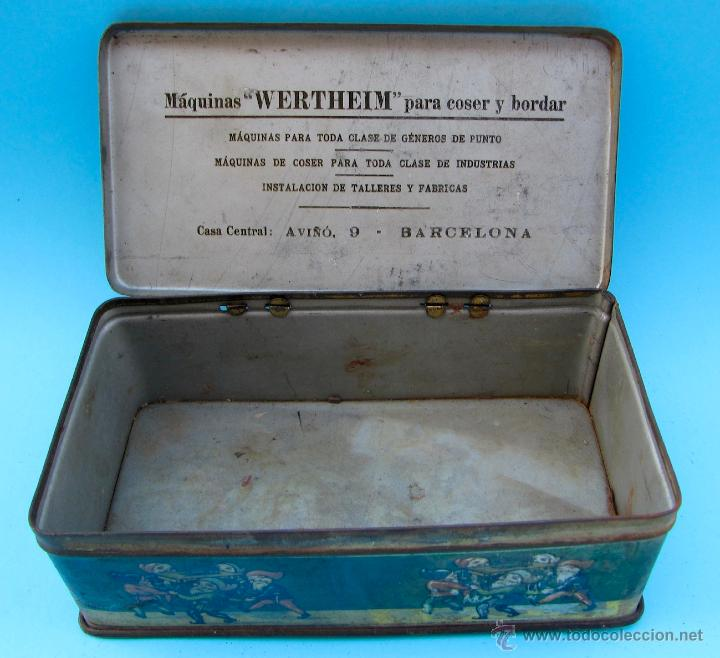 Cajas y cajitas metálicas: WERTHEIM. MÁQUINAS PARA COSER. CAJA METÁLICA - Foto 3 - 40484762