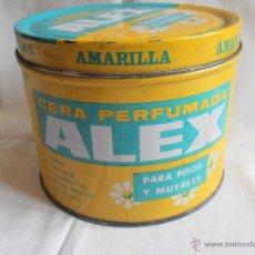 Cajas y cajitas metálicas: BOTE LATA CERA PERFUMADA ALEX AMARILLA 1000 CC. Lote 40620030