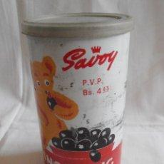 Cajas y cajitas metálicas: BOTE LATA VACIA SAVOY PING PONG CACAO 200 GRAMOS HECHO EN VENEZUELA. Lote 40620373