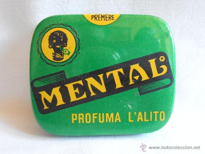 CAJA METALICA LLENA MENTAL PASTILLAS DE MENTA ITALIA (Coleccionismo - Cajas y Cajitas Metálicas)
