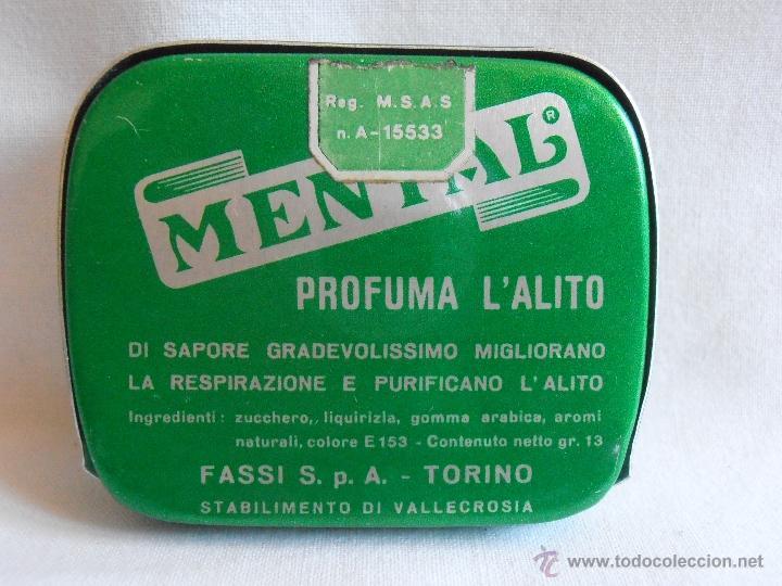 Cajas y cajitas metálicas: CAJA METALICA LLENA MENTAL PASTILLAS DE MENTA ITALIA - Foto 2 - 40635627