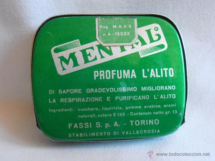 Cajas y cajitas metálicas: CAJA METALICA LLENA MENTAL PASTILLAS DE MENTA ITALIA - Foto 5 - 40635627