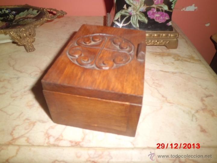 Cajas y cajitas metálicas: CAJA DE MADERA TALLADA - Foto 4 - 40773778