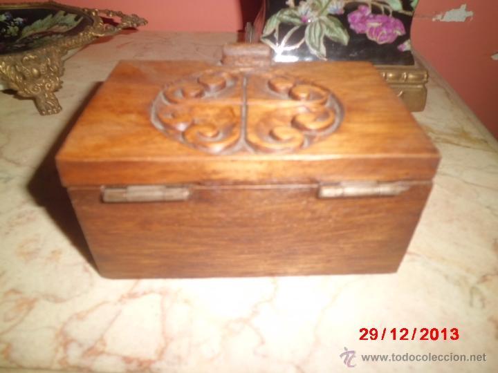 Cajas y cajitas metálicas: CAJA DE MADERA TALLADA - Foto 5 - 40773778