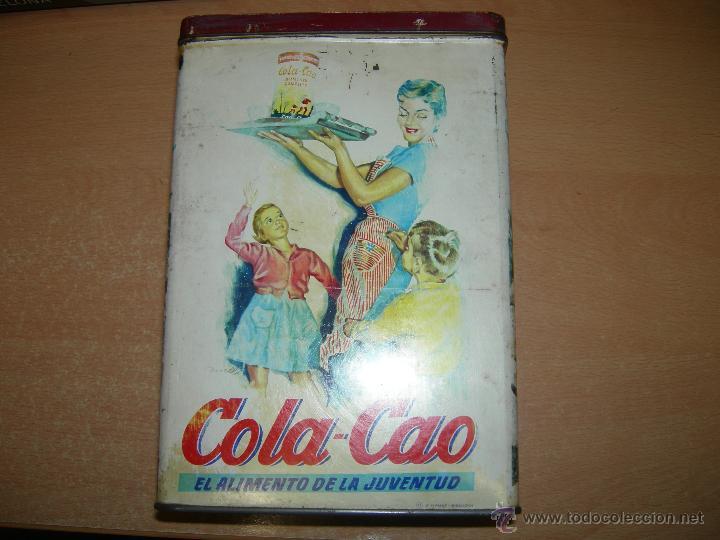 Cajas y cajitas metálicas: RARA Y DIFICIL CAJA metalica DE COLA CAO DE LOS AÑOS 50/60 - serigrafiada - higos piñones - Foto 2 - 40867351
