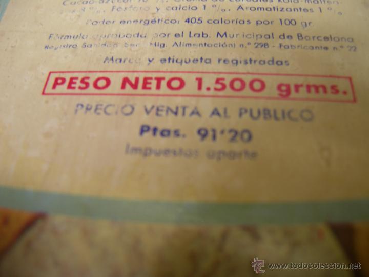 Cajas y cajitas metálicas: RARA Y DIFICIL CAJA metalica DE COLA CAO DE LOS AÑOS 50/60 - serigrafiada - higos piñones - Foto 4 - 40867351