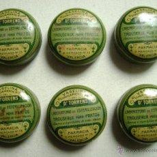 Cajas y cajitas metálicas: SEIS CAJAS METALICAS DE VASELINA DEL DR.TORRENS. Lote 88352112
