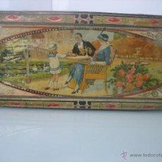 Cajas y cajitas metálicas: BONITA LATA LITOGRAFIADA DE CHOCOLATE - LA SUISSE - A.REÑE - HECHA POR G.ANDREIS BADALONA. Lote 41081128