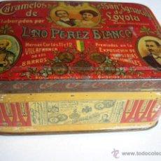 Cajas y cajitas metálicas: CAJA DE LATA DE CARAMELOS DE SAN IGNACIO DE LOYOLA. LINO PEREZ BLANCO. VILAFRANCA DE LOS BARROS.. Lote 41092015