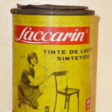 Cajas y cajitas metálicas: ANTIGUO BOTE TINTE SINTÉTICO *LACCARIN*. Lote 41102276