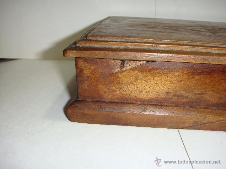 cajas y cajitas metlicas preciosa caja de madera antigua sxix cedro