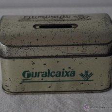 Cajas y cajitas metálicas: HUCHA METALICA CAJA RURAL RURALCAJA RURALCAIXA. 10 X 7 X 6 CM. VER FOTOS.. Lote 41125481
