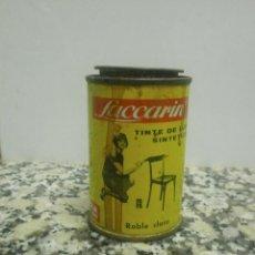 Cajas y cajitas metálicas: ANTIGUO BOTE TINTE LACCARIN. Lote 41194486