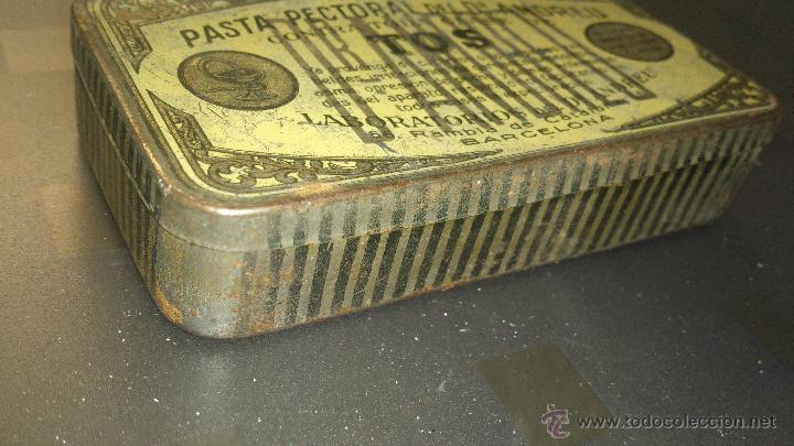 Cajas y cajitas metálicas: ANTIGUA CAJA METALICA FARMACIA PASTA PECTORAL DR. ANDREU PASTILLAS TOS BARCELONA - Foto 2 - 41214044