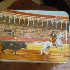 Cajas y cajitas metálicas: CAJA DE MEMBRILLO -.LA LIDIA-. Lote 41270680