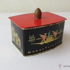Cajas y cajitas metálicas: CAJITA HOJALATA DE TE. Lote 41389237