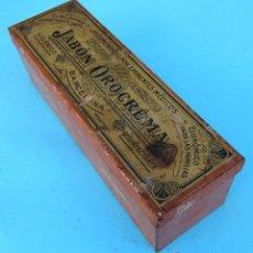 Cajas y cajitas metálicas: CAJA METÁLICA JABÓN OROCREMA. INDUSTRIA METALGRÁFICA TINTORÉ OLLER, BARCELONA. Lote 41440328