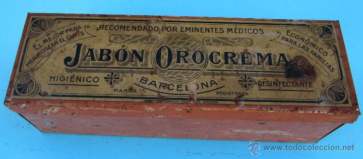 Cajas y cajitas metálicas: CAJA METÁLICA JABÓN OROCREMA. INDUSTRIA METALGRÁFICA TINTORÉ OLLER, BARCELONA - Foto 2 - 41440328