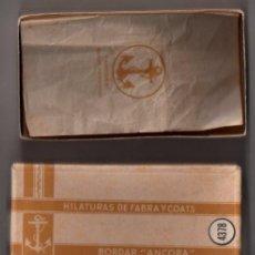 Cajas y cajitas metálicas: CAJA DE CARTON. BORDAR 'ANCORA'. HILATURAS DE FABRA Y COATS. BARCELONA.. Lote 41481262