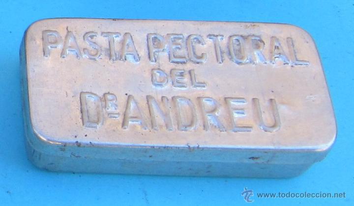 CAJA METALICA PASTA PECTORAL DEL DR. ANDREU. (Coleccionismo - Cajas y Cajitas Metálicas)