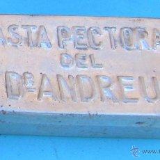 Cajas y cajitas metálicas: CAJA METALICA PASTA PECTORAL DEL DR. ANDREU.. Lote 41567967