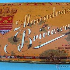 Cajas y cajitas metálicas: CAJA METALICA ALMENDRAS DE BRIVIESCA. FABRICANTE HIJO DE DESIDERIO ALONSO. METALINAS, S. A.. Lote 41581886