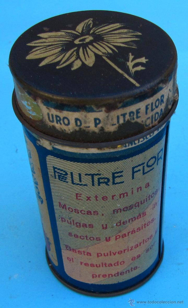 Cajas y cajitas metálicas: CAJA METALICA INSECTICIDA FLOR. PREPARADO POR FRANCISCO VINYALS, BARCELONA. - Foto 3 - 41591548