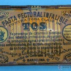 Cajas y cajitas metálicas: CAJA METÁLICA PASTA PECTORAL DEL DR. ANDREU CONTRA TODA CLASE DE TOS. Lote 41593219