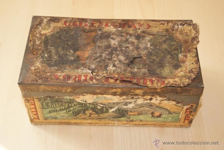 CAJA GALLETAS BIRBA DE HOJALATA (Coleccionismo - Cajas y Cajitas Metálicas)