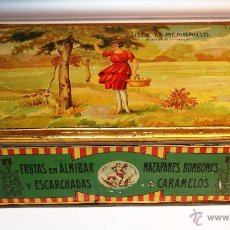 Cajas y cajitas metálicas: DULCE DE MEMBRILLO - LA FORTUNA S.A. MADRID - CAJA METÁLICA GRANDE - 27,5 CM. * 18 CM. * 9 CM.. Lote 45167151