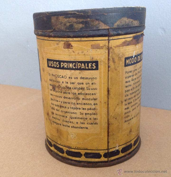 Cajas y cajitas metálicas: LATA SERIGRAFIADA DE PHOSCAO G.ANDREIS BADALONA - Foto 4 - 41875406