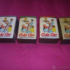 Cajas y cajitas metálicas: LOTE 4 CAJA COLACAO ORIGINAL HOJALATA COLA CAO AÑOS 60 VINTAGE COLECCION. Lote 42002424