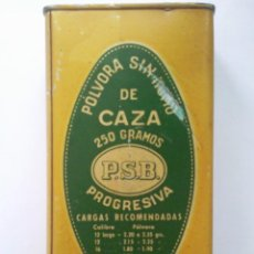 Cajas y cajitas metálicas: CAJA CHAPA SERIGRAFIADA , UNION ESPAÑOLA DE EXPLOSIVOS, FABRICA EN LUGONES Y CAYES. Lote 42034216