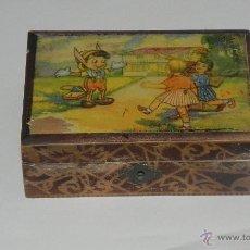 Cajas y cajitas metálicas: *ANTIGUO CABAS DE MADERA. AÑOS 40/50 *. Lote 42089315