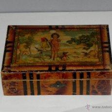 Cajas y cajitas metálicas: *ANTIGUO CABAS DE MADERA. AÑOS 40/50 *. Lote 42090074