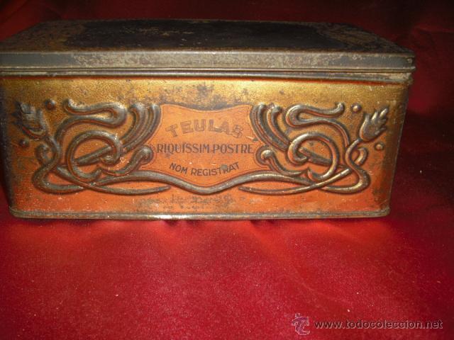 Cajas y cajitas metálicas: CAJA METALICA TEULES JOAQUIM TRIAS ( estilo modernista) años 20-30 - Foto 2 - 42246573