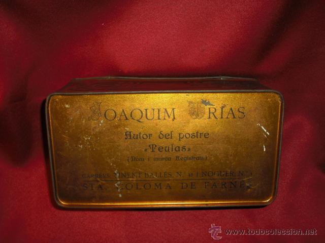 Cajas y cajitas metálicas: CAJA METALICA TEULES JOAQUIM TRIAS ( estilo modernista) años 20-30 - Foto 5 - 42246573