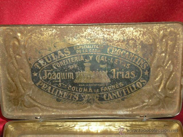 Cajas y cajitas metálicas: CAJA METALICA TEULES JOAQUIM TRIAS ( estilo modernista) años 20-30 - Foto 6 - 42246573